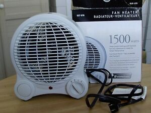 *SOLD* Fan heater 1500W Everstar Cambridge Kitchener Area image 1