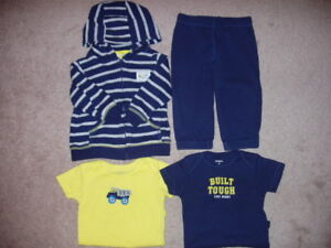 Carter's Baby Boy 4 Piece Outfit, Size 9-12 Months