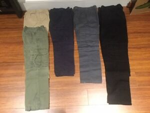 BOYS SIZE 8:  6 CARGO PANTS:  READY FOR SCHOOL: CLEAN