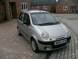 2005 CHEVROLET MATIZ SE 5 DOOR HATCH SILVER 12 MONTH M.O.T, 44K