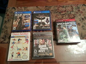 BRAND NEW SEALED VIDEO GAMES (PS4, PS3, NINTENDO NES)