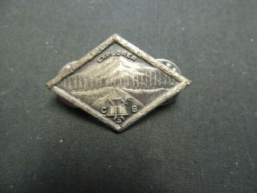 Explorer CSB or CBS Pewter Pin, Leavens, Attleboro Made  c80