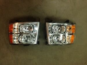 phares silverado 1500 2500 3500 2007-2013 headlights, headlamps