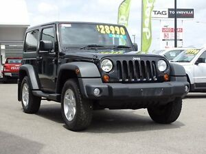 2011 Jeep Wrangler JK MY2010 Sport Black 6 Speed Manual Softtop Garbutt Townsville City Preview