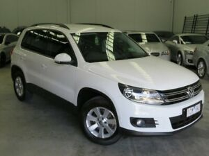 2014 Volkswagen Tiguan 5N MY14 103TDI DSG 4MOTION Pacific White 7 Speed Sports Automatic Dual Clutch Seaford Frankston Area Preview