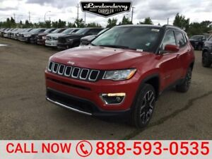 2018 Jeep Compass 4X4 LIMITED                Heated Leather Inte
