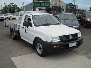 2005 Mitsubishi Triton MK MY05 GL White 5 Speed Manual Cab Chassis Hoppers Crossing Wyndham Area Preview