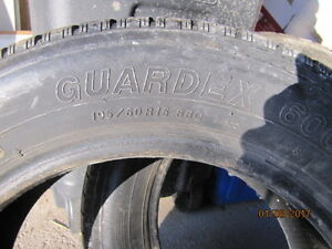 Pair of Yokohama Guardex 600 195/60R15 winter tires (NEW PRICE)