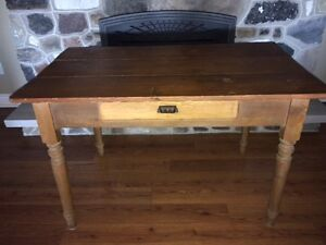 Gorgeous Antique Wooden Desk with Drawer (Original Hardware)