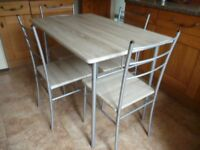 Kitchen Table & 4 Chairs AS NEW