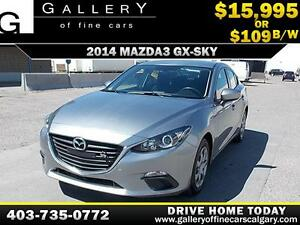 2014 Mazda3 GX-SKY $109 bi-weekly APPLY TODAY DRIVE TODAY