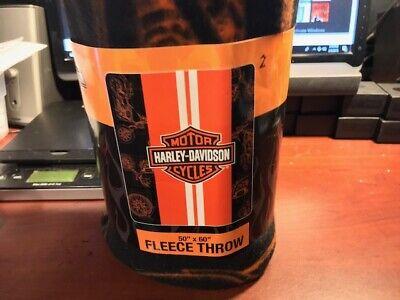 Harley-Davidson ®  Racing Stripe Fleece throw Blanket
