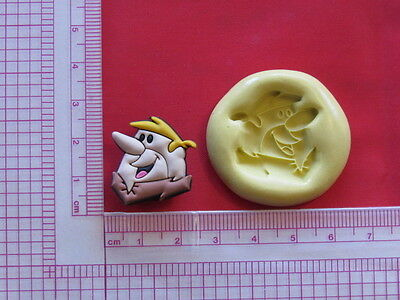 Stone Aged Character Silicone Mold A933 For Chocolate Cake Topper Fondant -