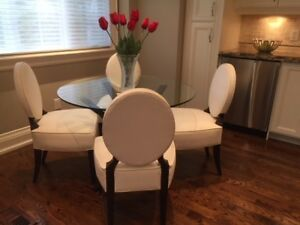 Custom upholstered dining chairs