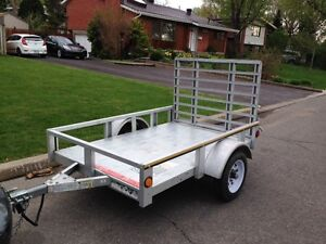 Utility Trailer - 4 foot x 6 foot Galvanized, full wldth ramp