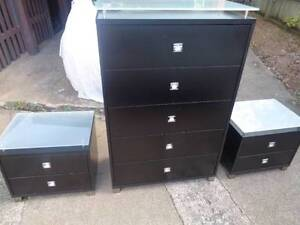 Set of 3 drawers bedroom bedside table cabinet storage hutch Moorooka Brisbane South West Preview
