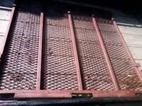 4x4 ft..Rear steel mesh ramp for a utility trailer