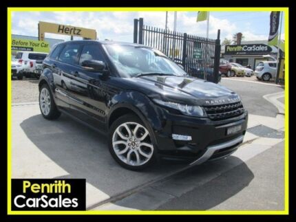 2013 Land Rover Range Rover Evoque L538 Si4 Black Sports Automatic Wagon