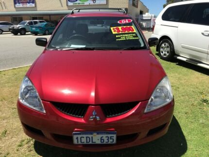 2004 Mitsubishi Lancer CH ES Wine Red 4 Speed Automatic Sedan Erskine Mandurah Area Preview