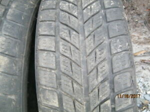 205-50-17  2 Toya and 2 Weathermate Arctic tires on Mazda rims