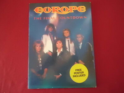 Europe - The Final Countdown (ohne Poster) . Songbook Notenbuch Vocal Guitar