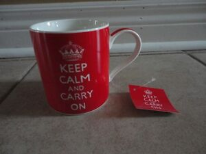 Brand new with tags Keep calm and carry on coffee mug London Ontario image 2