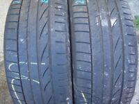A Pair Of Bridgestone Runflat Tyres 215/40/17 I have in Garden for 2 months, Good Condition.