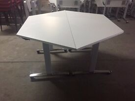 Tilt Top Trapezoidal Meeting Tables