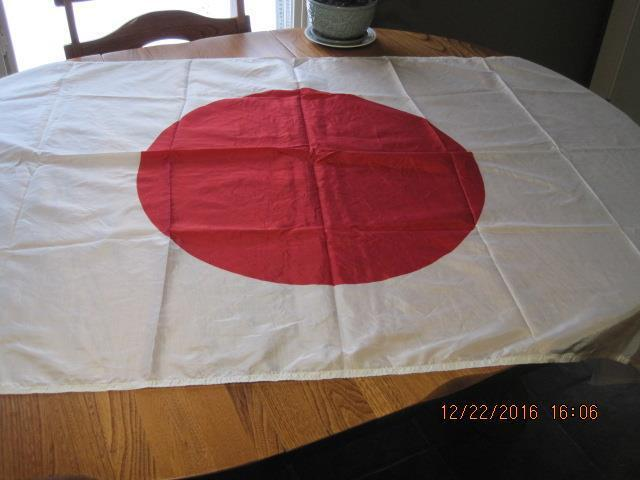 Vintage JAPAN FLAG JAPANESE 3 by 6 ft. Nylon Very Good Condition