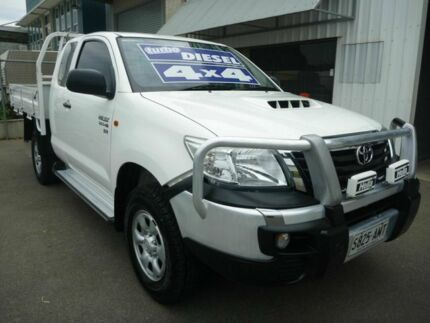 2012 Toyota Hilux KUN26R MY12 SR Xtra Cab White 5 Speed Manual Utility Edwardstown Marion Area Preview