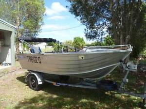BLUEFIN 3.9 DEEP HULL TINNY WITH 30HP MERCURY Cooloola Cove Gympie Area Preview