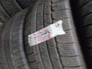 FOUR USED WINTER 255-55-18 { MICHELIN-LATITUDE  } R.H AUTO