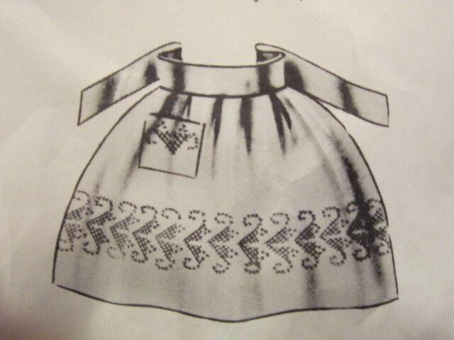 Vintage Lee Wards Orange Apron for embroidery kit
