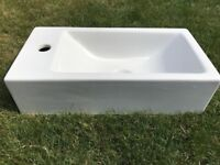 Narrow Porcelain Cloakroom Basin