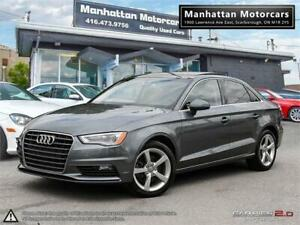 2015 AUDI A3 1.8T KOMFORT AUTO  PANO LEATHER PHONE 1OWNER 51KM