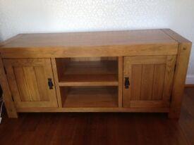 Rustic Oak TV cabinet ( wide) Oak furniture Land