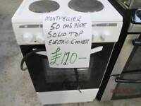 *+MONTPELLIER/3 MONTHS OLD*Free Delivery*/50 CMS WIDE SOLID TOP ELECTRIC COOKER/FULLY SERVICE/VERY C