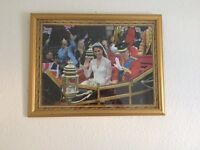 Framed Jigsaw Duke & Duchess of Cambridge Wedding Procession