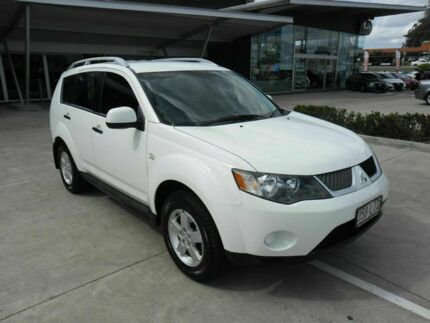 2008 Mitsubishi Outlander ZG MY09 LS White 6 Speed Constant Variable Wagon Yamanto Ipswich City Preview