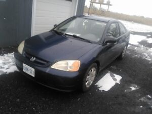 2002 Honda Civic Coupe (2 door) certified and etested