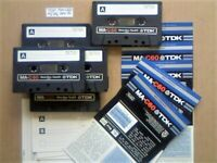 5x TDK MA C60 60 METAL TYPE 4 IV GUARANTEED CASSETTE TAPES 1979-81 W/ CARDS CASES LAB's & FREE P&P