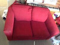 Two seater sofa - red