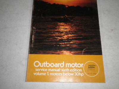 Old outboard motor service manual 30 hp and below