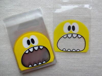 50 Plastiktütchen selbstklebend - Monster gelb - Candy Bag