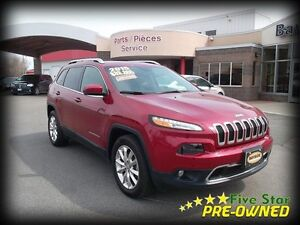 2015 Jeep Cherokee Limited 4x4 LEATHER  SUNROOF!