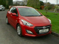 65 REG HYUNDAI I30 1.6CRDi DIESEL 110ps BLUE DRIVE 5 DOOR HATCHBACK IN MET RED
