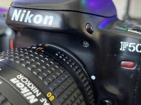 Nikon F50 SLR Camera with Nikkor 35-80mm Lens