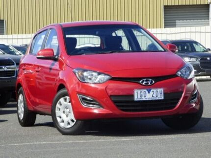 2015 Hyundai i20 PB MY16 Active Red 4 Speed Automatic Hatchback Diggers Rest Melton Area Preview