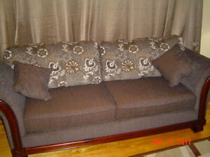 HAZEL CHENNILLE SOFA & LOVE SEAT FOR SALE (MOVING SALE)