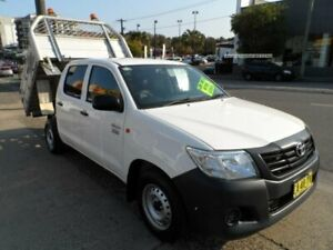 2014 Toyota Hilux TGN16R MY14 Workmate White 4 Speed Automatic Dual Cab Pick-up Rockdale Rockdale Area Preview